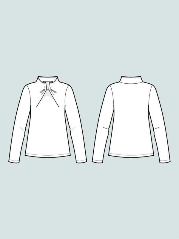 Stoffwechsel Meterweise   ElasticTieSweater 1